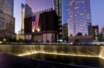 1 WTC and Waterfall Panorama